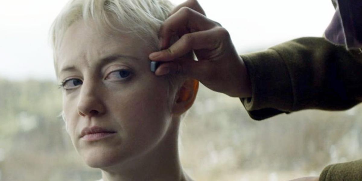 "Andrea Riseborough in Black Mirror's ""Crocodile"""
