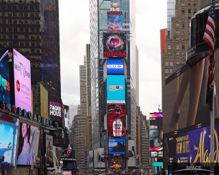 The Toshiba Vision Screen in Times Square