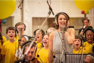 Suranne Jones recording for Children in Need Got It Covered