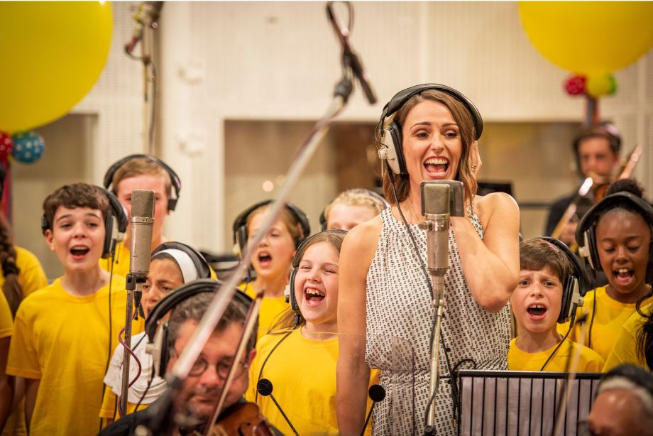 Suranne Jones recording for Children in Need Got It Covered