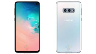 Leaked photo of the cheaper Samsung Galaxy S10E, front and back (Image Credit: winfuture)