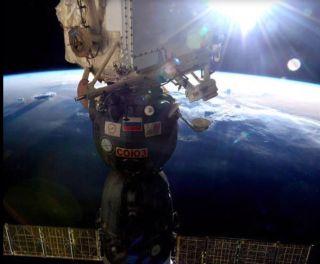 Soyuz Spacecraft at Space Station
