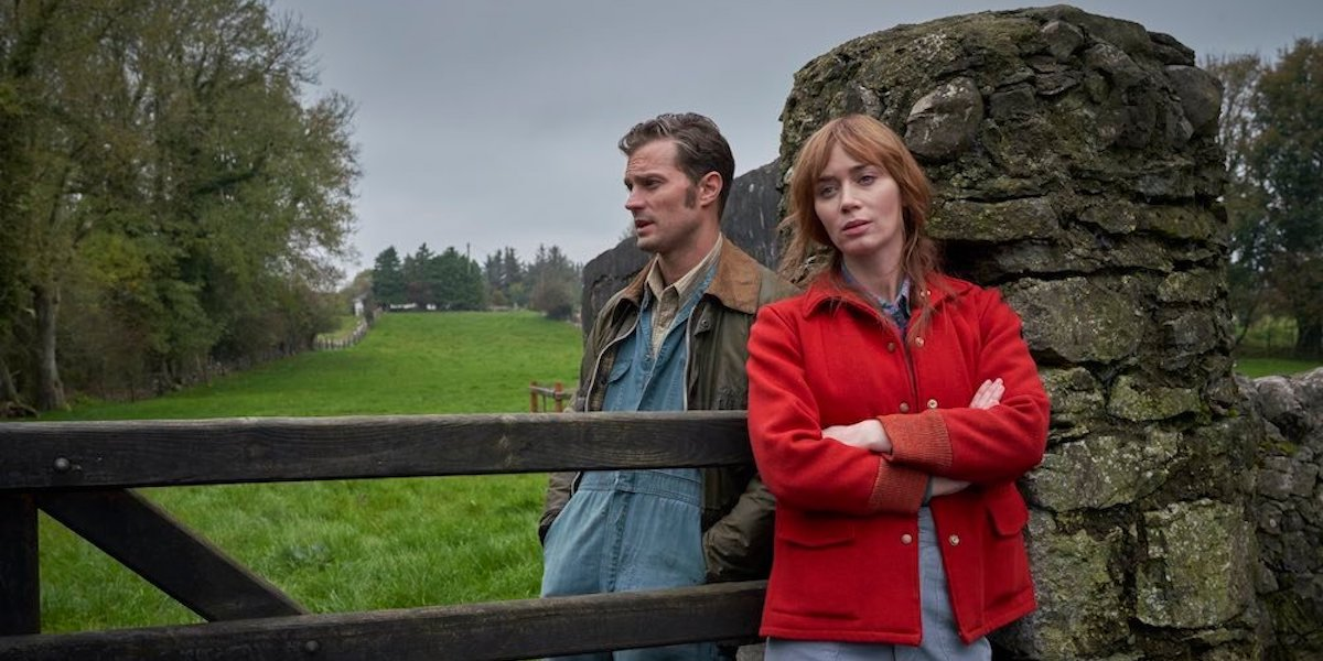 Jamie Dornan and Emily Blunt in Irish countryside in Wild Mountain Thyme