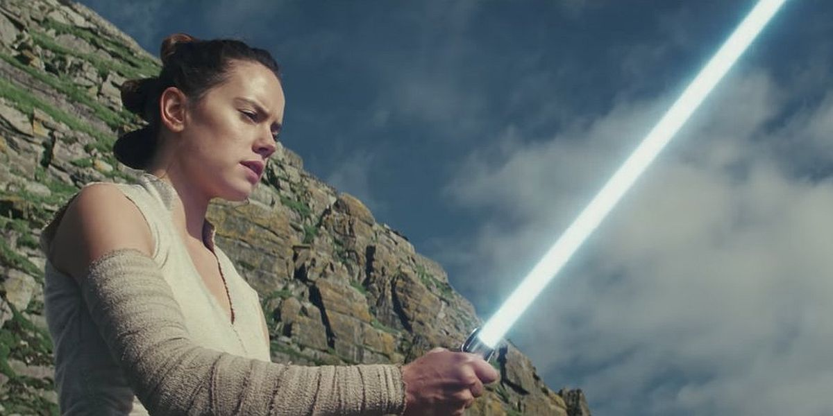 Daisey Ridley as Rey in Star Wars: The Last Jedi
