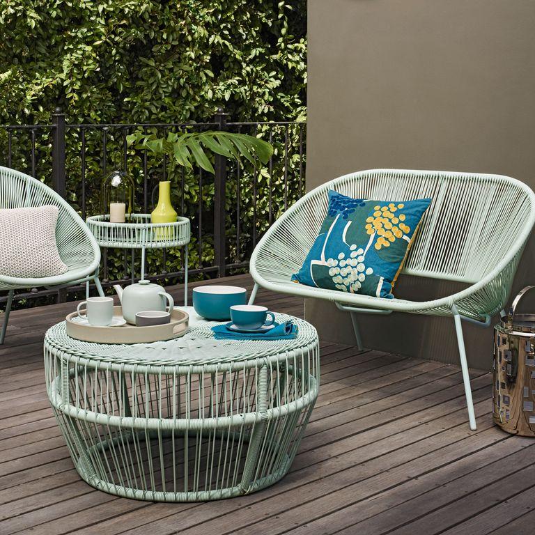 Salsa 2-seater garden sofa in Mint