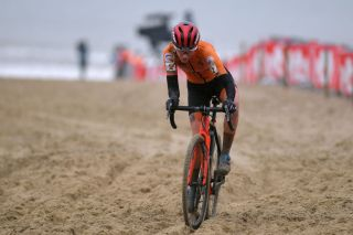 OOSTENDE BELGIUM JANUARY 30 Annemarie Worst of The Netherlands during the 72nd UCI CycloCross World Championships Oostende 2021 Women Elite a 146km UCICX CXWorldCup Ostend2021 CX on January 30 2021 in Oostende Belgium Photo by Luc ClaessenGetty Images