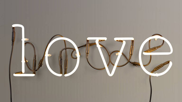 neon love sign from john lewis & partners