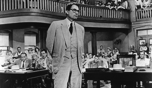 To Kill A Mockingbird Atticus Finch courtroom stance