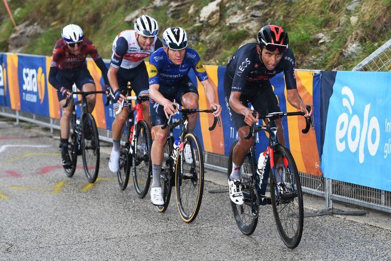 Egan Bernal and Remco Evenepoel at the 2021 Giro d'Italia