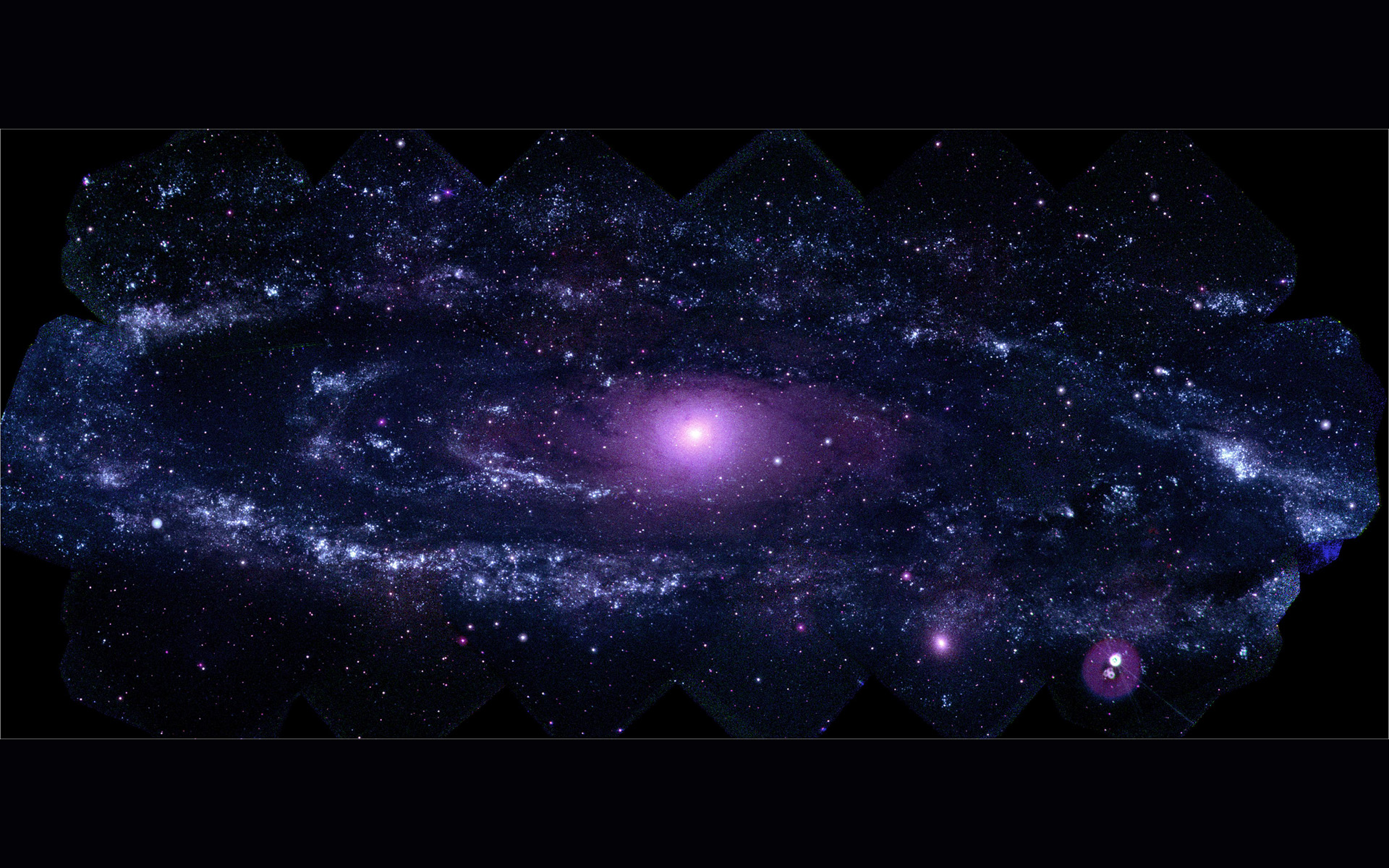 Cosmic Purple Space Wallpaper