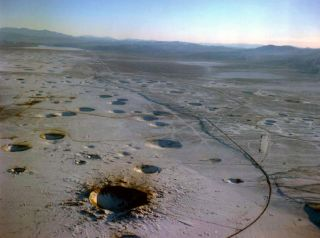 Unused Bomb Holes in Nevada