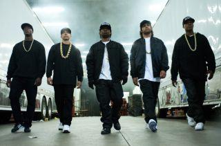 Straight Outta Compton, MC Ren, Aldis Hodge, DJ Yella, Neil Brown Jr, Eazy-E, Jason Mitchell, Ice Cube, O'Shea Jackson Jr, Dr. Dre , Corey Hawkins