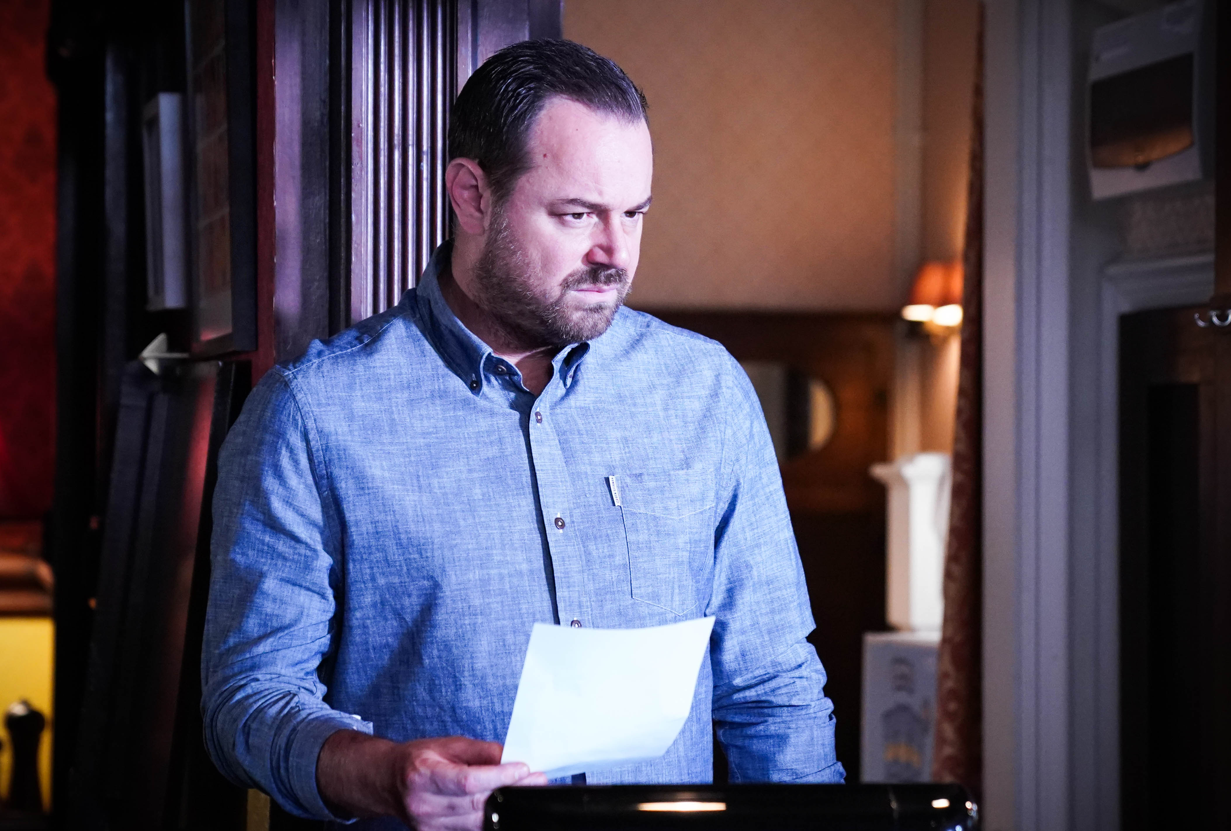 Mick Carter makes a discovery in EastEnders