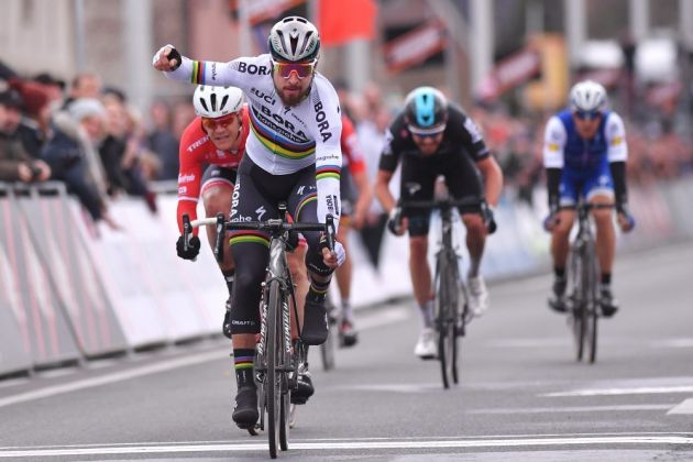 Thumbnail Credit (cyclingweekly.co.uk) Tim de Waele/Corbis via Getty Images : Peter Sagan wins the 2017 edition of Kuurne-Brussels-Kuurne Credit: Tim de Waele/Corbis via Getty Images