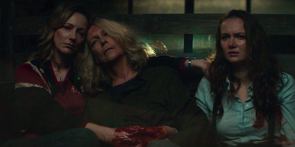 Karen, Laurie, and Allyson in Halloween