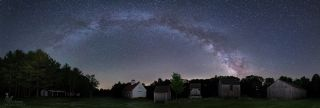 Milky Way Over New Hampshire Barns