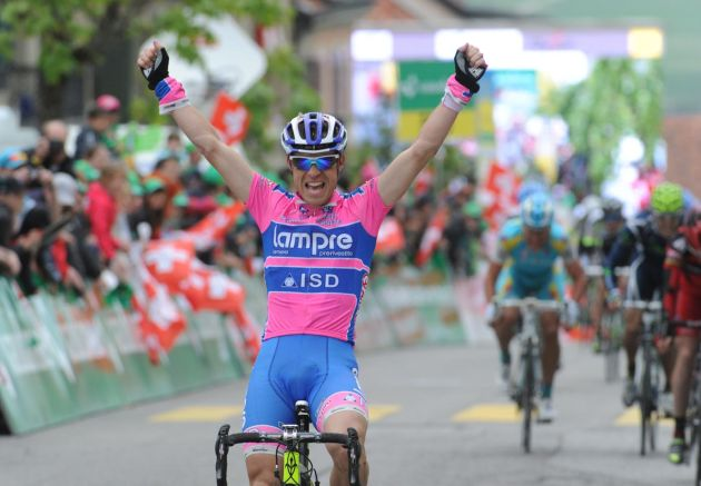 Damiano Cunego wins, Tour de Romandie 2011, stage two