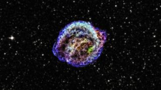 This Chandra X-ray Observatory image shows the remnant of Kepler's supernova, the famous Type 1a supernova explosion that was discovered by Johannes Kepler in 1604.