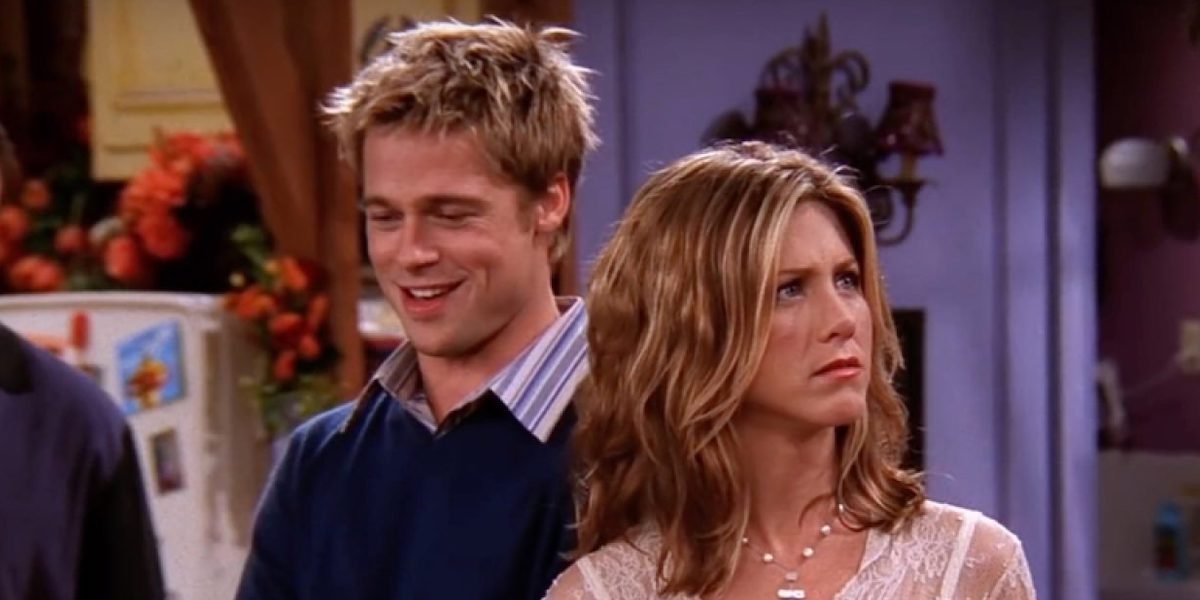 Brad Pitt and Jennifer Aniston in Friends
