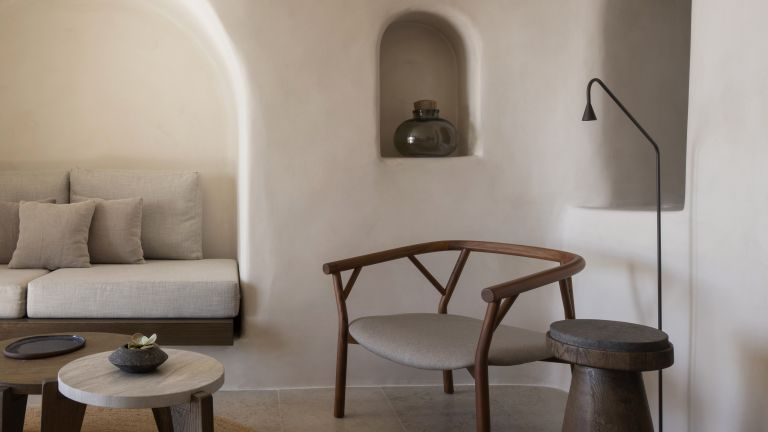 Space saving ideas from micro hotel in Santorini