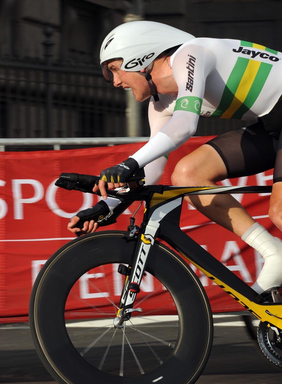Luke Durbridge, winner, under-23 men time trial, Road World Championships 2011