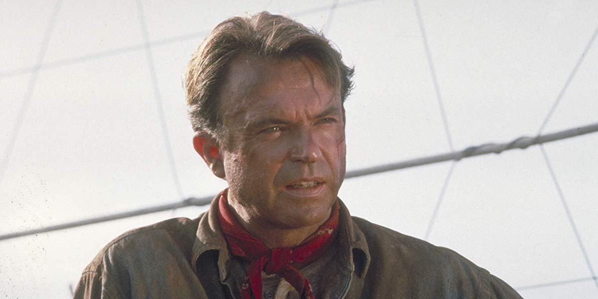 Sam Neill in Jurassic Park in 1994