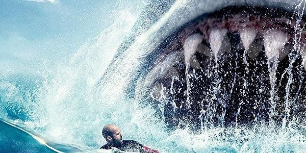 The Meg Jason Statham Jonas swims away from Meg's massive maw
