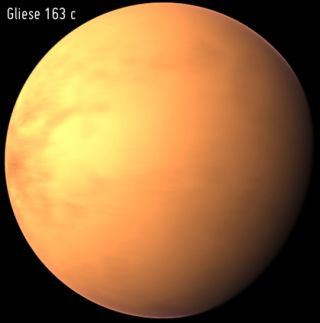 Possibly Habitable Alien Planet Gliese 163c