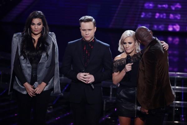 The X Factor - Olly with Anton, Monica and Caroline (Syco/Thames/Corbis/Dymond)