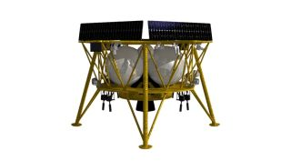 An illustration of the Genesis lunar lander that Firefly will offer to NASA using a design provided by Israel Aerospace Industries.