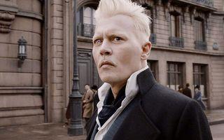 Johnny Depp as Grindelwald in Fantastic Beasts.
