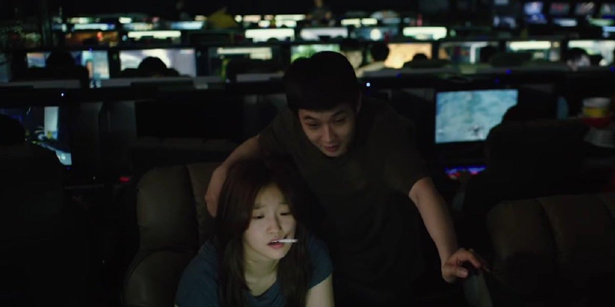 Choi Woo-shik and Park So-dam in Parasite