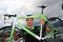 Peter Sagan (Cannondale) and his new Cannondale SuperSix