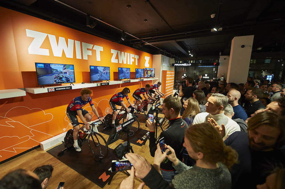 Is Zwift's virtual racing for pros the future of cycling