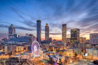 Downtown Atlanta, Georgia skyline.