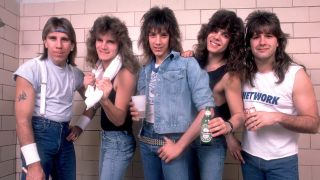 Rock band Tesla in the late 1980s