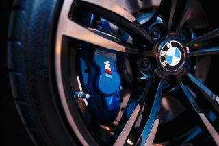 BMW M logo on brake caliper
