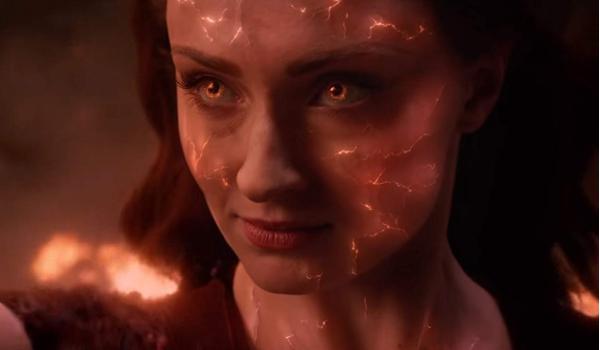 Dark Phoenix Jean Grey's cracked face showing her Phoenix powers