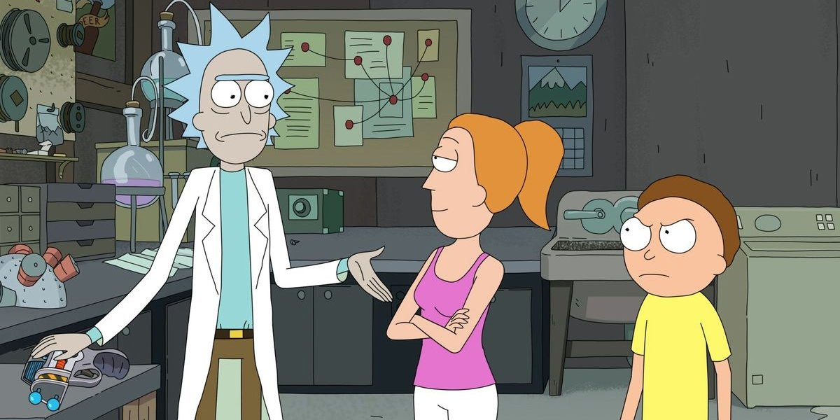 Rick and Morty Rick Summer and Morty in the lab