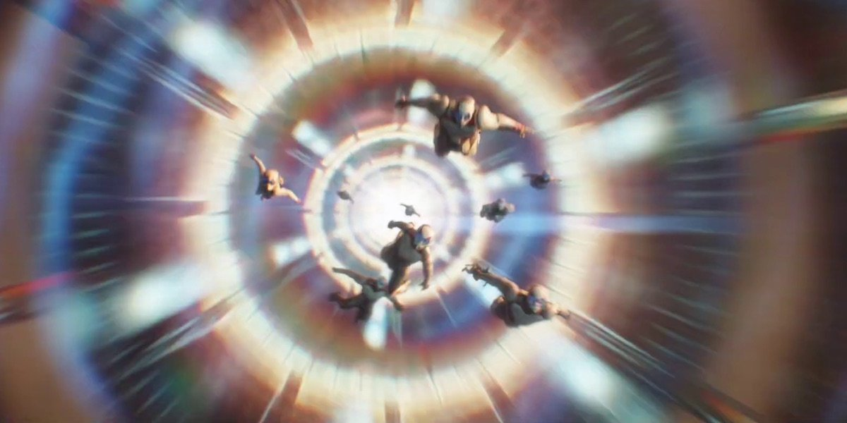 Heroes time traveling in Quantum Realm in Avengers: Endgame