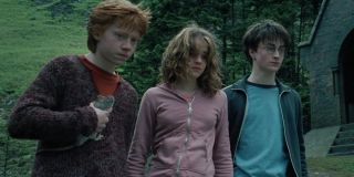Rupert Grint, Emma Watson and Daniel Radcliffe in Harry Potter and the Prisoner of Azkaban (2004)