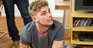 STE MCQUEEN TRIES TO GET CLEAN FROM CRYSTAL METH IN HOLLYOAKS