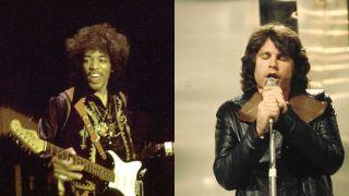 Jimi Hendrix and Jim Morrison