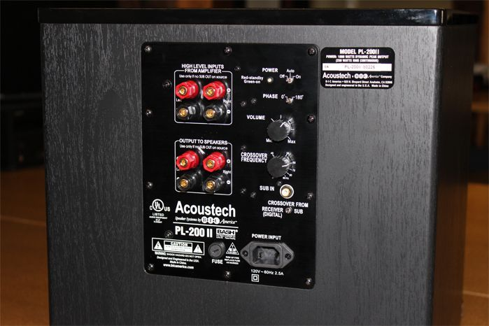 BIC Acoustech PL-200 II Subwoofer Review - Listening Test