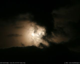 The moon blocked about 61 percent of the sun over Rome. In Sweden, where the eclipse was at its maximum, the moon blocked about 80 percent of the sun's disk. This was the first of four partial solar eclipses in 2011