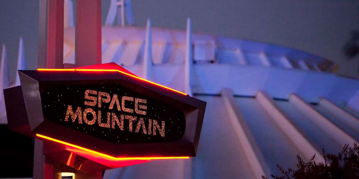 Space Mountain in the dark, Photo courtesy of Walt Disney World