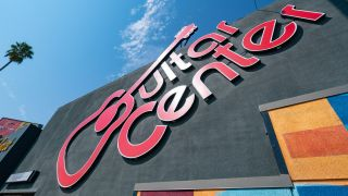 General views of the Hollywood Rock Walk at the Guitar Center on the Sunset Strip after the announcement of rock legend Eddie Van Halen's death on October 06, 2020 in Hollywood, California