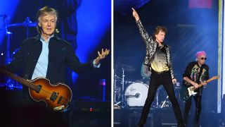 Paul McCartney and The Rolling Stones
