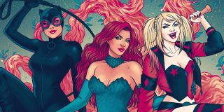 Catwoman, Poison Ivy, and Harley Qunn from the Gotham City Sirens comic