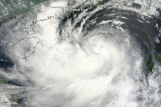 Satellite image of Typhoon Kai-tak